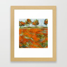 La poésie rouge Framed Art Print