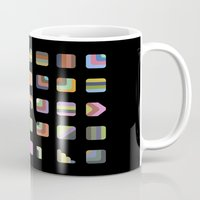 grid Mugs featuring Grid by Bram Myers