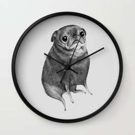 Sweet Black Pug Wall Clock