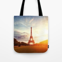 Sunset Eiffel Tower Tote Bag