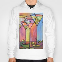 alcohol Hoodies featuring Martini Bar ... Abstract alcohol art by Amy Giacomelli