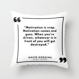 15   | David Goggins Quotes | 190901 Throw Pillow