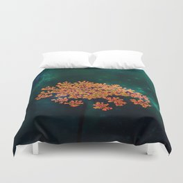 The flower in the Night Duvet Cover