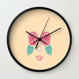 All I see is roses Wall Clock