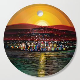 Angel Island Sunset (Square) Cutting Board
