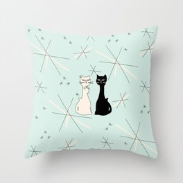 Mid Century Meowdern Throw Pillow