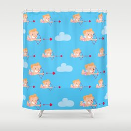 small cupid with a bow and arrow Shower Curtain