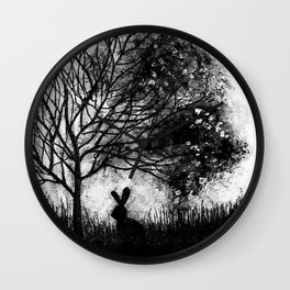 Moon rabbit Wall Clock