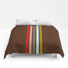 Stripes on Brown Comforters