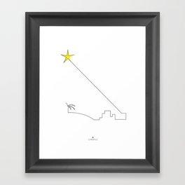 Star of night Framed Art Print