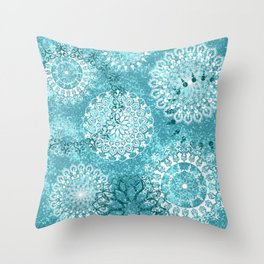 Mandala sky - Frost on your window Throw Pillow