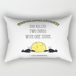 Two Birds, One Stone Rectangular Pillow