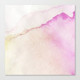 Hand painted watercolor patterns Canvas Print