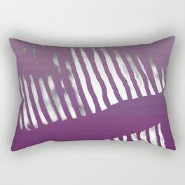 Purple Zebra Rectangular Pillow