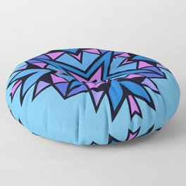 Native American Indian Tribal Design Blue Floor Pillow