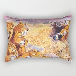 vegetarian lion Rectangular Pillow