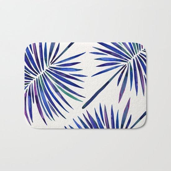 Tropical Fan Palm – Indigo Bath Mat