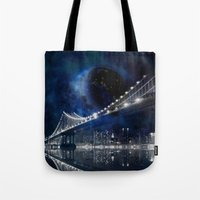 new york city Tote Bags featuring New!! New York City by Simone Gatterwe