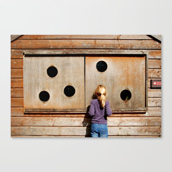 Curious Girl Canvas Print