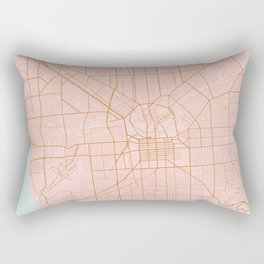 Pink and gold Adelaide map Rectangular Pillow
