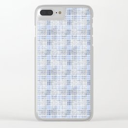 Classical blue with a gray cell. Clear iPhone Case