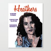 heathers Canvas Prints featuring Heathers by AdrockHoward