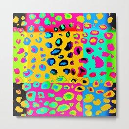 colorpop leopard Metal Print