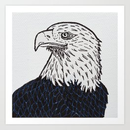 Free (Bald Eagle) Art Print