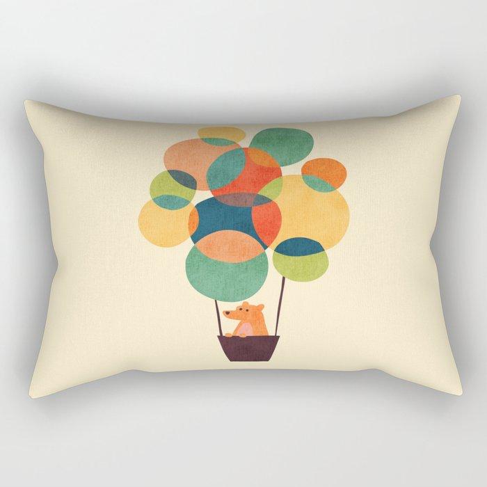 Whimsical Hot Air Balloon Rectangular Pillow