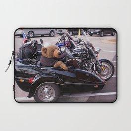 Bear in a Sidecar Laptop Sleeve