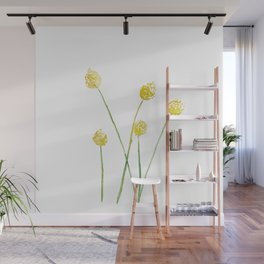 Yellow Billy Button Flowers Wall Mural
