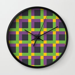 Overlapping Squares II Wall Clock