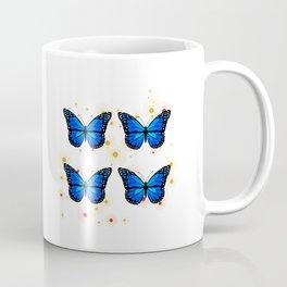 Four blue butterflies Coffee Mug