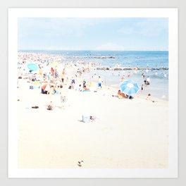 Blue Beach Brooklyn Art Print