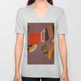 Wassily Kandinsky - Tempered Elan Unisex V-Neck