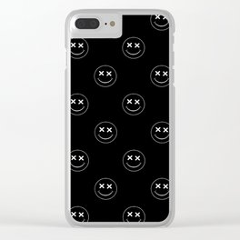 emoji smiley face pattern Clear iPhone Case