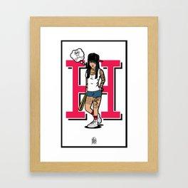Hood girl color Framed Art Print