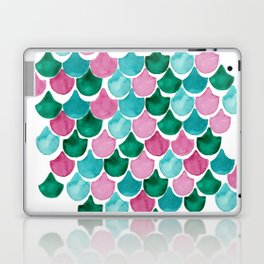 Mermaid Scales Collection // Pink Turquoise Blue Palette Laptop & iPad Skin
