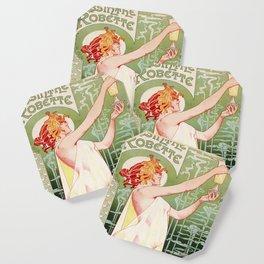 Art Nouveau Absinthe Robette Ad Coaster
