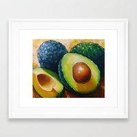 avocado Framed Art Prints featuring Avocado  by Na Liu Cherry