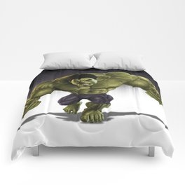 Caricature of Hulk  v2 Comforters