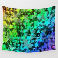 frames Wall Tapestries featuring Starrider -- Abstract cubist color expansion by Ramo