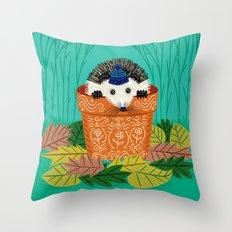 A Hedgehog's Home Throw Pillow