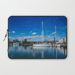Columbia River Boat Reflection Laptop Sleeve