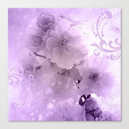 Beautiful flowers in soft violet colors Canvas Print