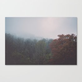 Smoky Mountains in Autumn Canvas Print