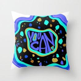 You can neon terrazzo pattern Throw Pillow