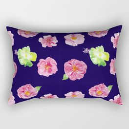 Watercolor floral Patern Rectangular Pillow
