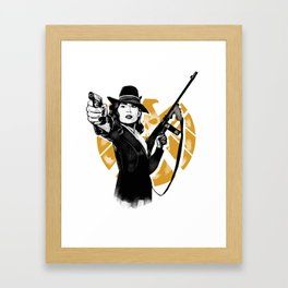 Agent Peggy Carter Framed Art Print