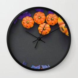Halloween Jack O Lantern Pumpkin Heads Decoration Ultra HD Wall Clock